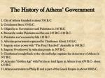the history of athens government