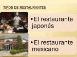 tipos de restaurantes1