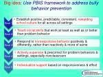 big idea use pbis framework to address bully behavior prevention