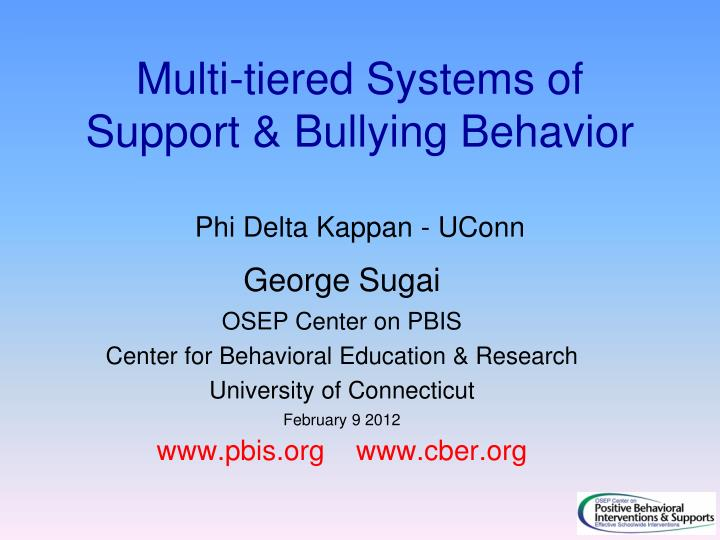 multi tiered systems of support bullying behavior phi delta k appan uconn n.