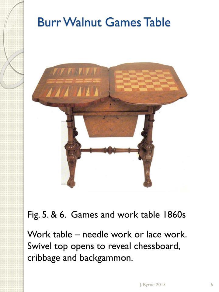 Burr Walnut Games Table
