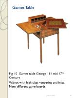 games table4