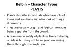 belbin character types plants