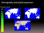 demography and spatial expansion