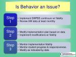 is behavior an issue