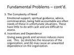 fundamental problems cont d