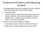 fundamental problems with allocating by need