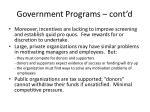 government programs cont d
