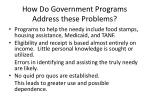 how do government programs address these problems