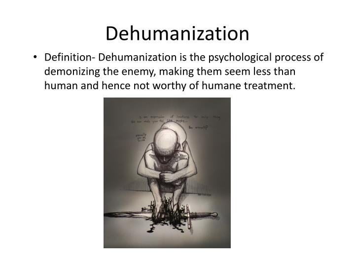 dehumanization n.