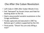che after the cuban revolution