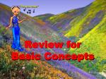 review for basic concepts