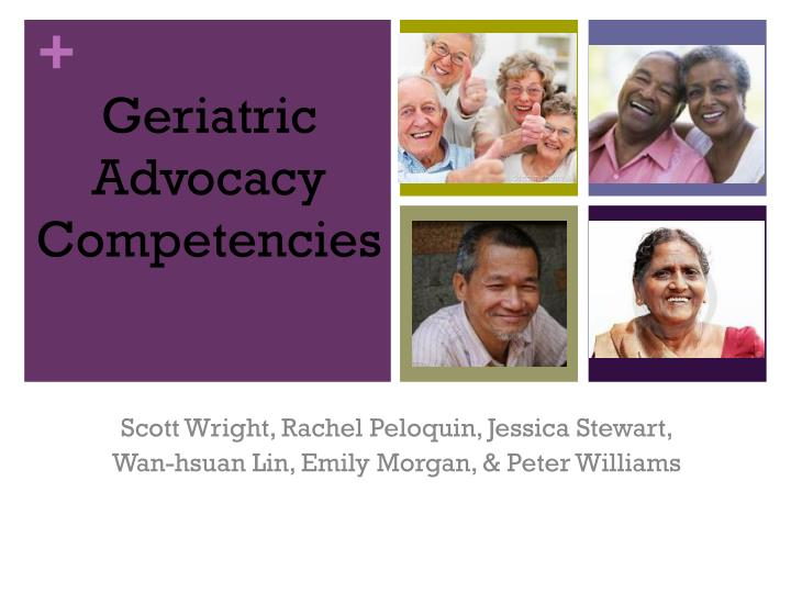 geriatric advocacy competencies n.
