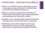 public info adverse drug effects