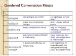gendered conversation rituals