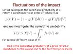 fluctuations of the impact