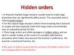 hidden orders