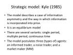 strategic model kyle 1985