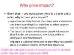 why price impact