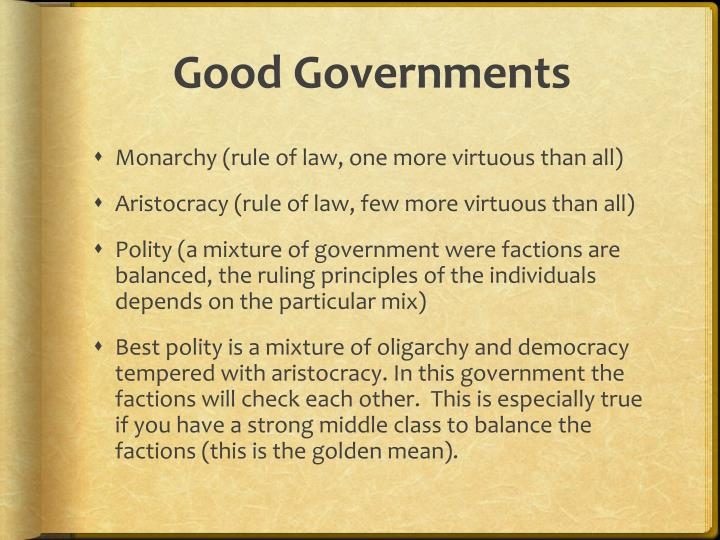 Good Governments