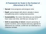 a framework for scale in the context of afterschool in st paul
