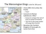 the merovingian kings ruled for 200 years