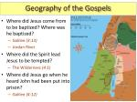 geography of the gospels1