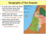 geography of the gospels5