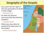 geography of the gospels9