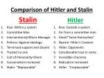 comparison of hitler and stalin