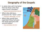 geography of the gospels19