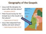 geography of the gospels25