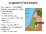 geography of the gospels28