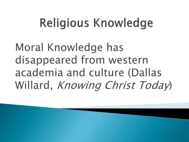 religious knowledge n.