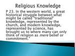 religious knowledge1