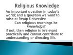 religious knowledge12