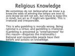 religious knowledge18
