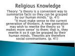 religious knowledge57
