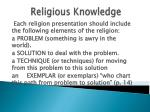 religious knowledge81
