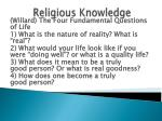 religious knowledge86
