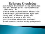 religious knowledge87