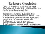 religious knowledge88