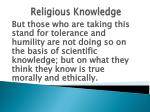 religious knowledge9