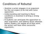 conditions of rebuttal