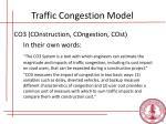 traffic congestion model