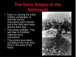 the early stages of the holocaust1