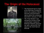 the origin of the holocaust