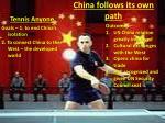 china follows its own path1
