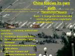china follows its own path3