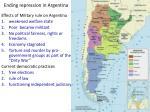 ending repression in argentina